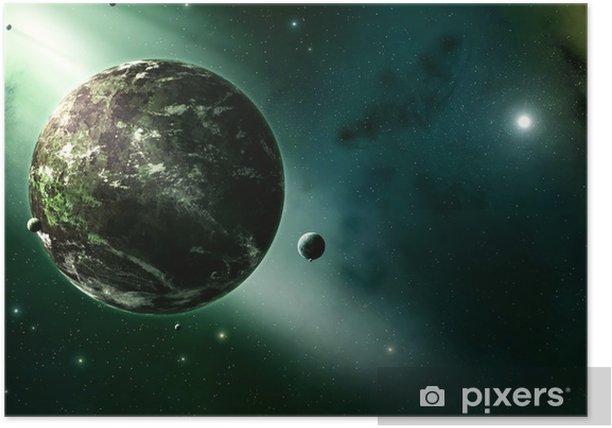 Poster Fond d'univers - Espace