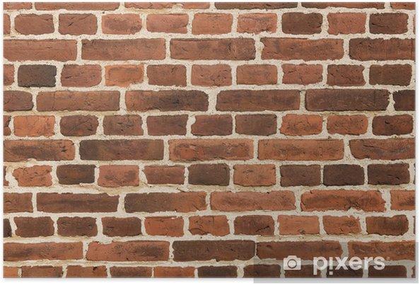Poster Fond de brique de mur de cru de plan rapproché - Thèmes
