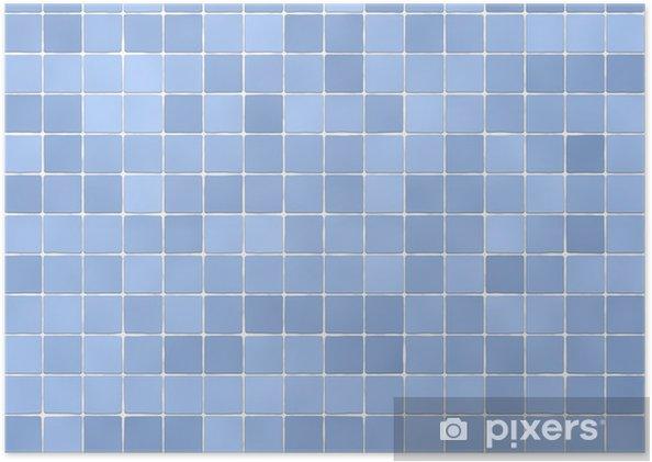 Poster Fond de carreaux de salle de bain de couleur bleu clair