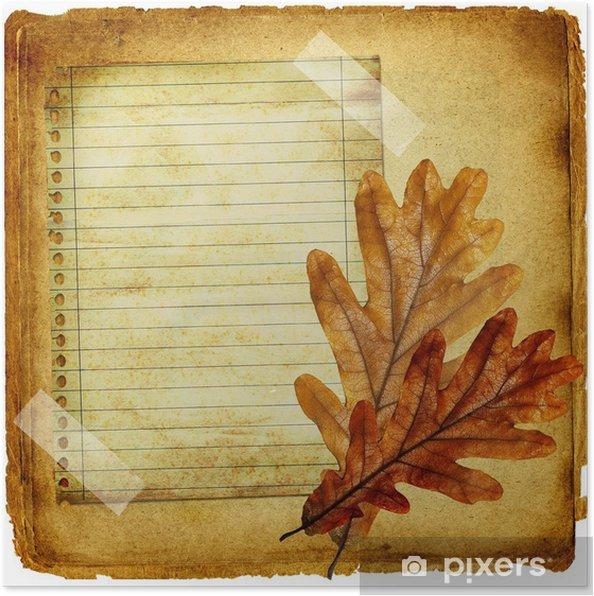 Poster Fond de cru d'automne - Matières premières