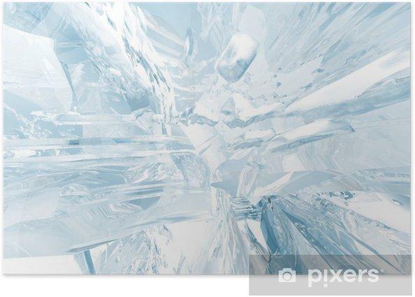 Poster Fond de glace - Saisons