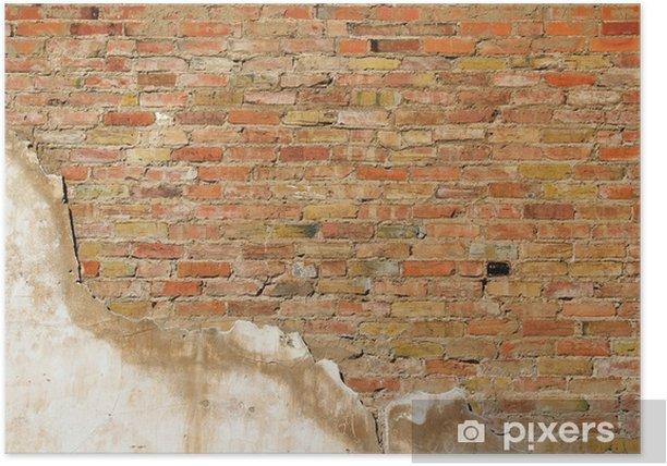 Poster Fond de texture de mur d'un vieux mur de la section - Industrie lourde