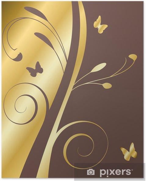 Fond Doré fond doré et marron poster • pixers® • we live to change