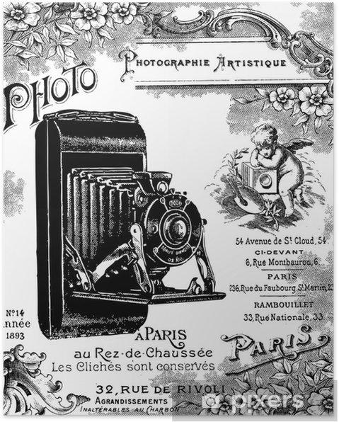 Poster Fond foto vintage - Texturen
