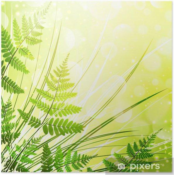 Poster Fond fougère - Plantes