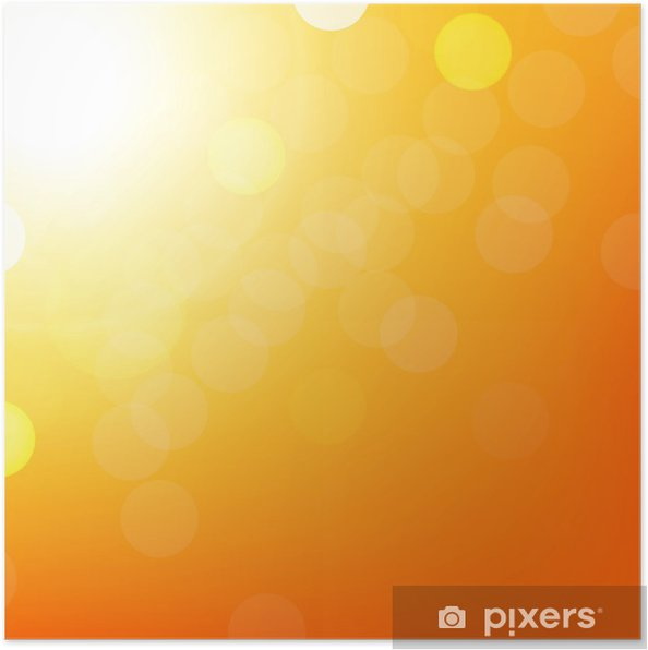 Poster Fond orange avec Bokeh - Situations