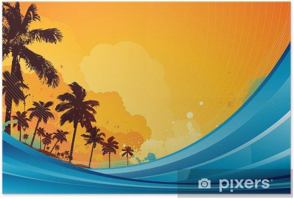 Poster Fond tropical d'été - Saisons