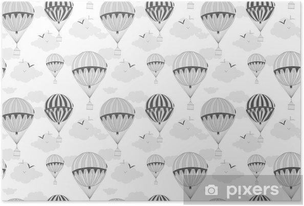 Póster Fondo con globos de aire caliente • Pixers® - Vivimos para ...