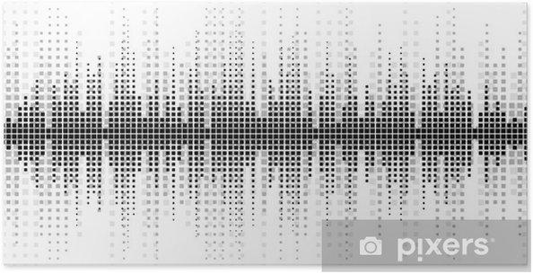 Póster Fondo con una escala de sonido. - Recursos gráficos