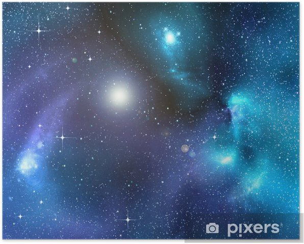 Póster Fondo estrellado del espacio exterior profundo - Estrellas