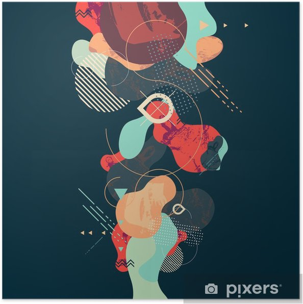 Póster Fondo geométrico abstracto moderno - Recursos gráficos