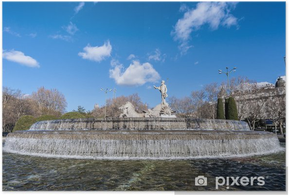 Poster Fontaine de Neptune à Madrid, Espagne. - Villes européennes