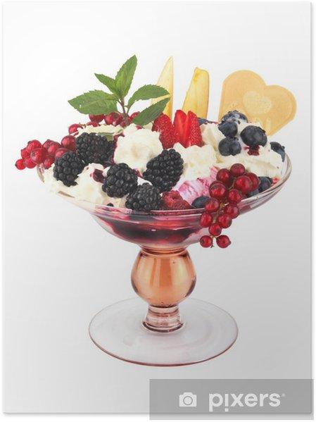 Poster Forêt Sundae fruits plateau de glace - Desserts et friandises