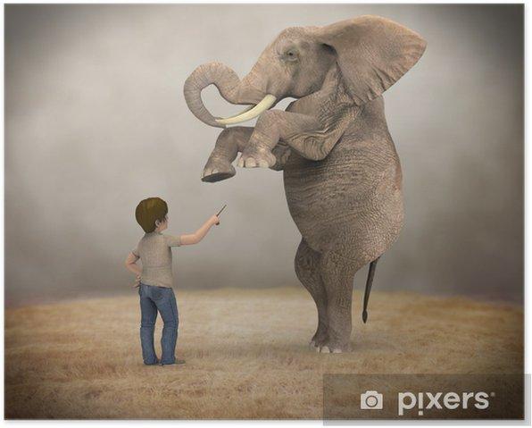 Poster Formé d'éléphant - Réussite