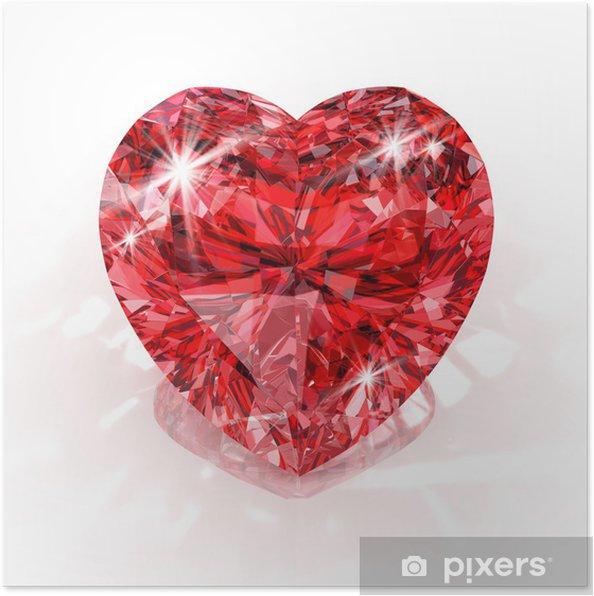 Poster Forme de coeur diamant - Fêtes internationales