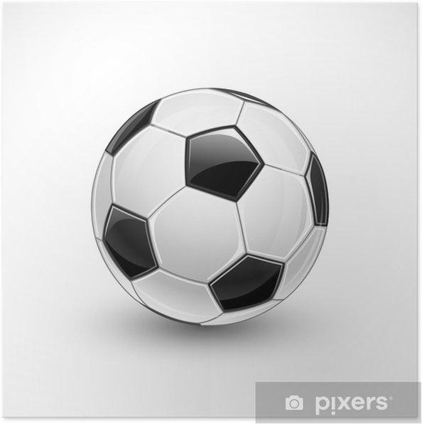 Poster Fotboll vektor • Pixers® - Vi lever för förändring 42d2ed72c2909