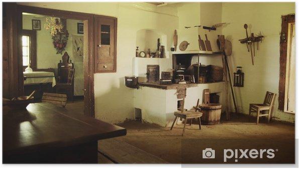 Póster Foto del interior de madera rústica - Monumentos