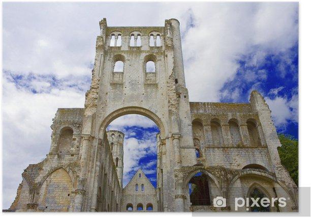 france; normandie; jumièges : abbaye Poster - Public Buildings