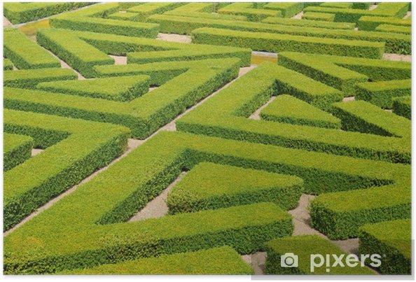 Póster Francia, jardín francés formal en el Domaine de Villarceaux - Vacaciones