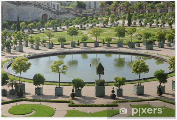 Paleis Van Versailles Tuin.Poster Frankrijk De Tuin Van Het Paleis Van Versailles Oranjerie