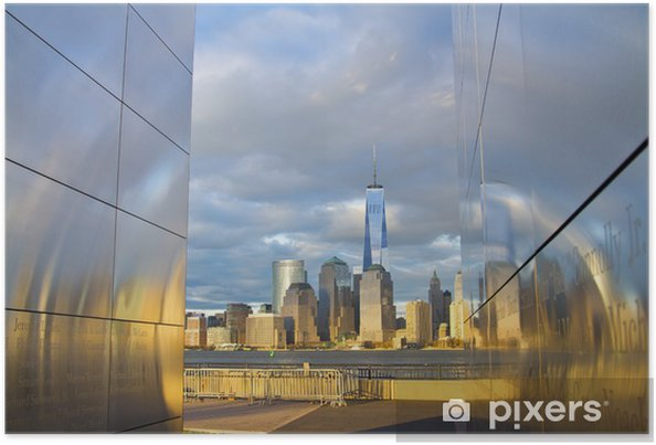 Poster Freedom Tower World Trade Center dans le Lower Manhattan à New York Cit - Monuments