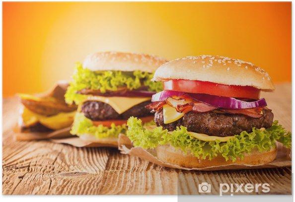 Fresh hamburgers Poster - Themes