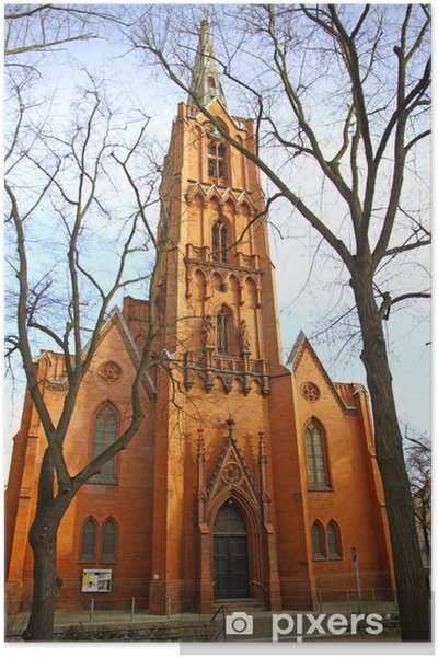 Poster Friedenskirche (église de la Paix) à Francfort Oder, Allemagne - Europe