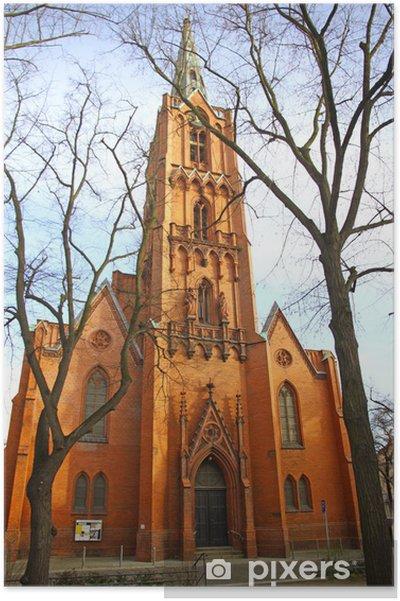 Poster Friedenskirche (Kerk van de Vrede) in Frankfurt Oder, Duitsland - Europa