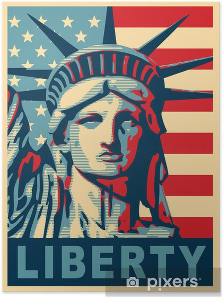 Poster Frihetsgudinnan. New York landmärke. -