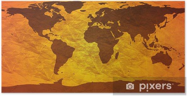 Poster Froissé carte du monde - Thèmes