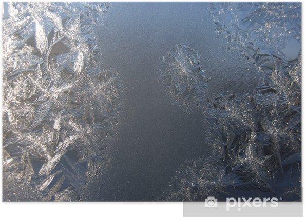 Frosty pattern on winter window Poster - Seasons