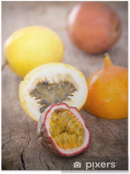 Póster Frutas de la pasión - Frutas