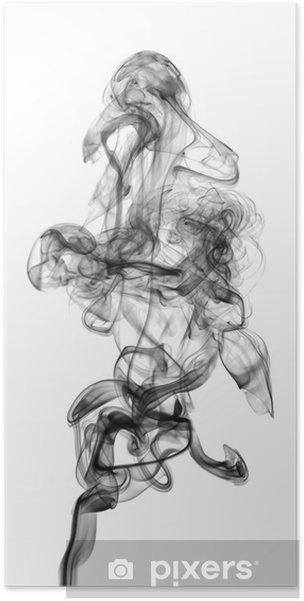 Poster Fumée noire isolé sur fond blanc - Thèmes