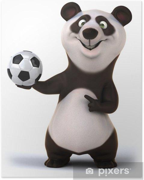 Poster Fun panda - Signes et symboles