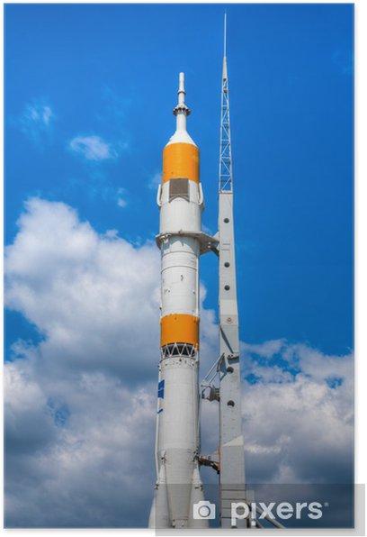 Poster Fusée à lit de départ - Dans les airs