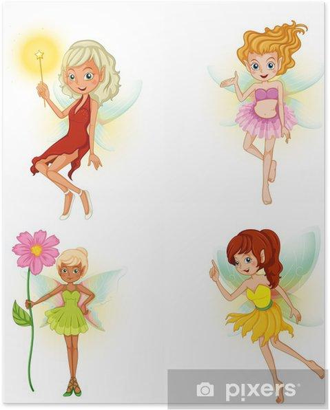 Poster Fyra vackra älvor - Övriga känslor