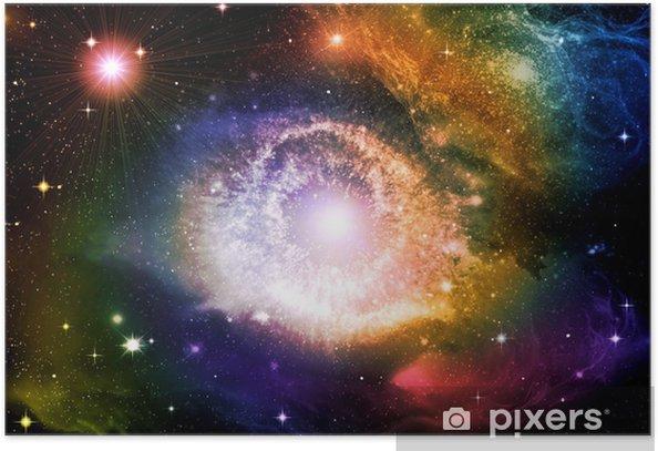 Poster Galaxies et des étoiles dans le ciel nocturne - Univers