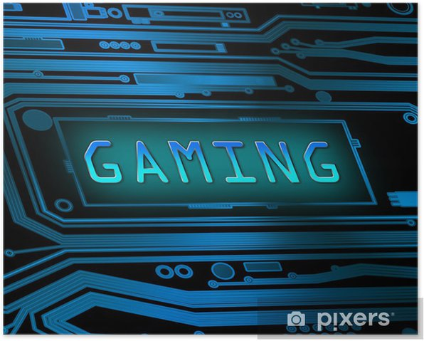 Gaming concept. Poster -