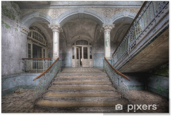 Poster Gamla trappor i Beelitz - Teman