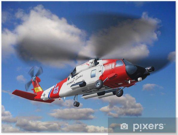 Poster Garde hélicoptère côte Jayhawk - Dans les airs