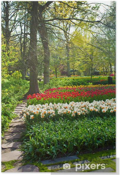 Garden landscape Poster - Seasons