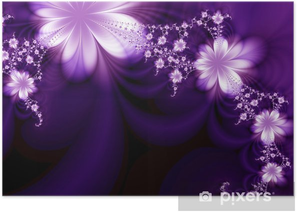 Poster Garland of flowers - Fleurs