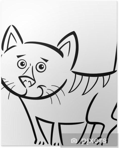 Póster Gato o gatito para colorear el libro • Pixers® - Vivimos para ...