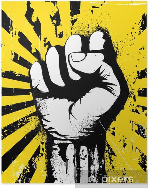 Poster Gebalde vuist - Thema's
