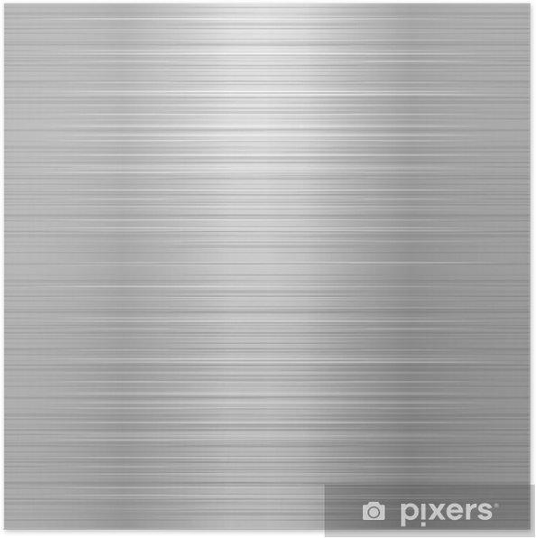 Poster Geborsteld metaal of aluminium plaat - Stijlen