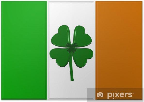 poster geluk van de ierse vlag • pixers® - we leven om te veranderen
