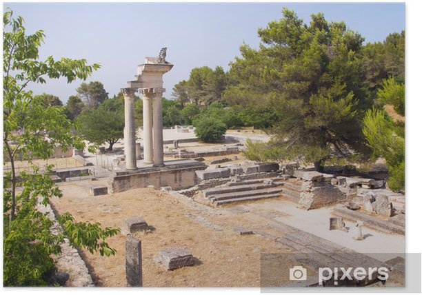 General view of Glanum (Provence, France) Poster - Europe