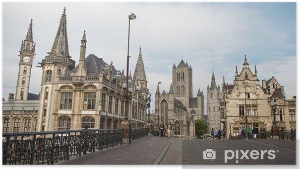 Poster Gent - Kijk van Saint Michael s - Europa