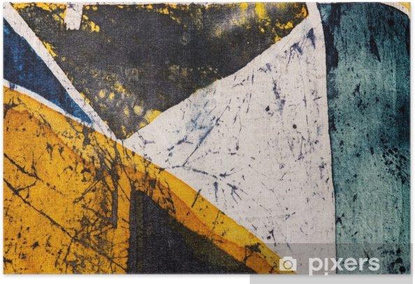 Póster Geometría, batik caliente, textura de fondo, hecha a mano en seda, surrealismo arte abstracto - Recursos gráficos