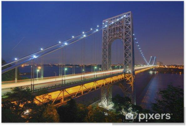 Poster George Washington Bridge - Villes américaines